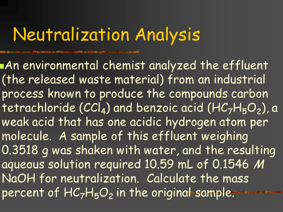 Neutralization Analysis