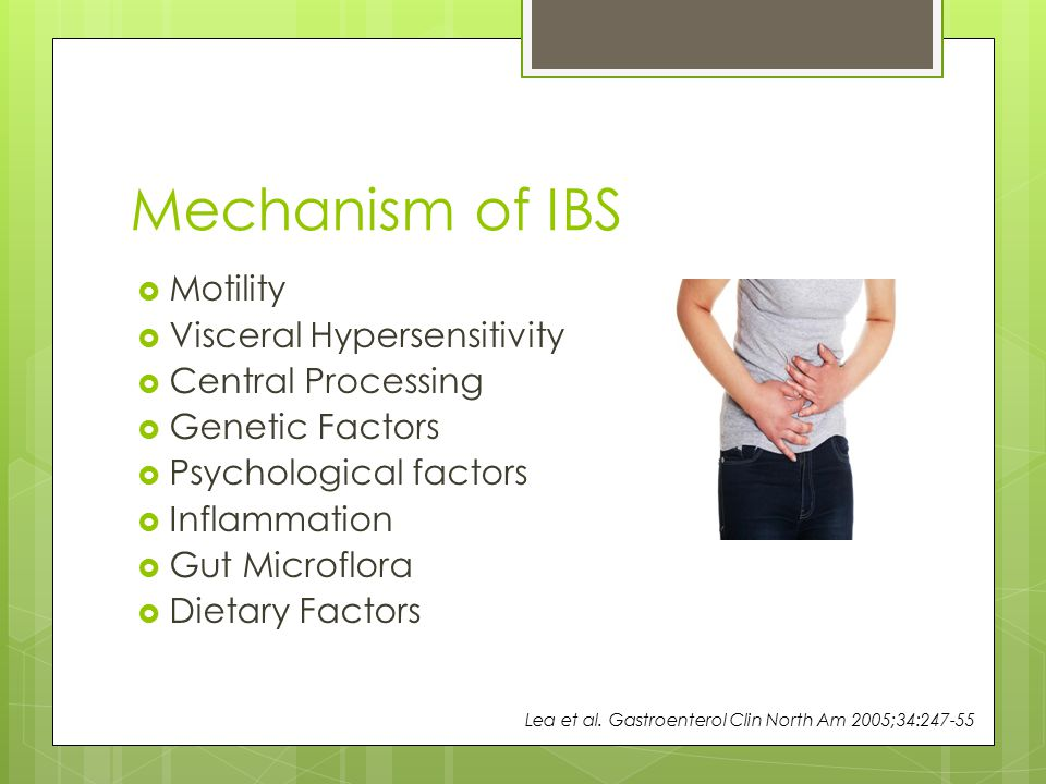 Mechanism of IBS Motility Visceral Hypersensitivity Central Processing