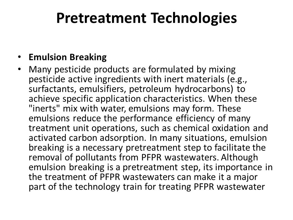 Pretreatment Technologies
