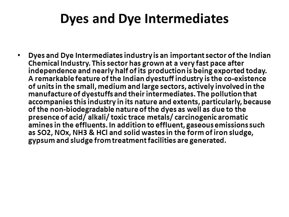 Dyes and Dye Intermediates
