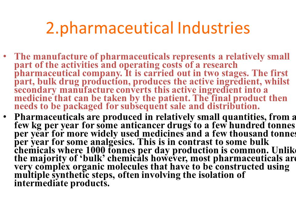 2.pharmaceutical Industries