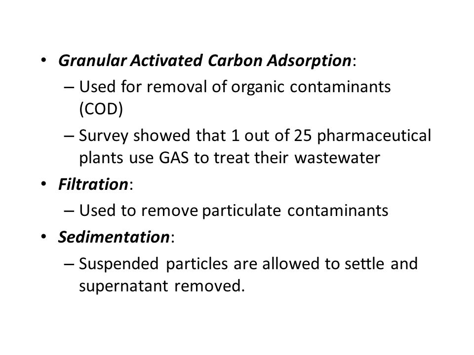 Granular Activated Carbon Adsorption: