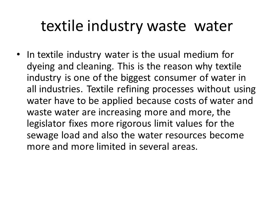 textile industry waste water