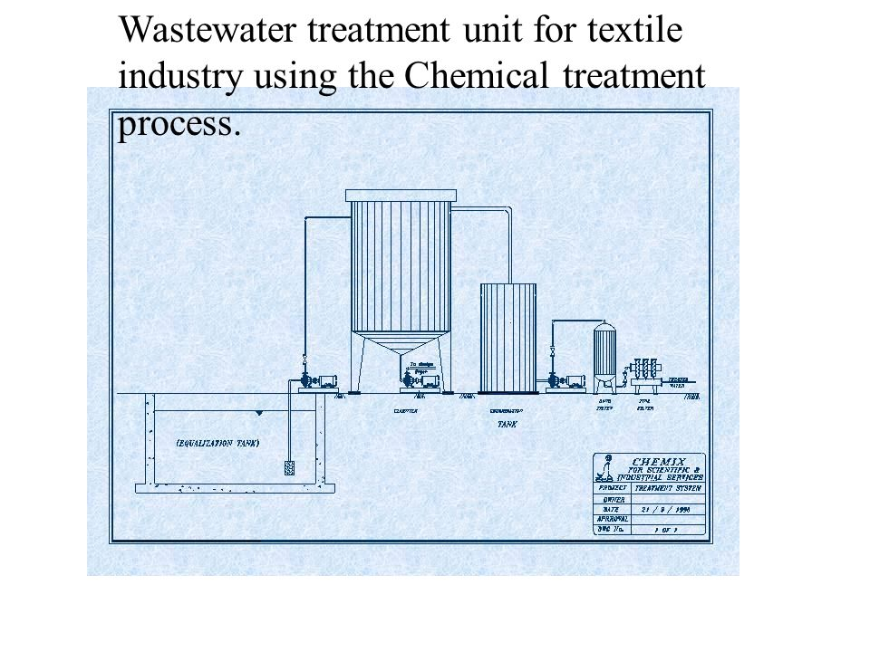 Wastewater treatment unit for textile industry using the Chemical treatment process.