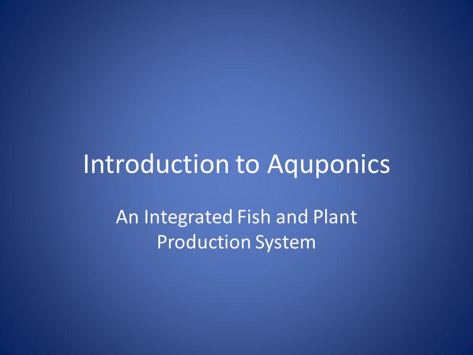 Introduction to Aquponics