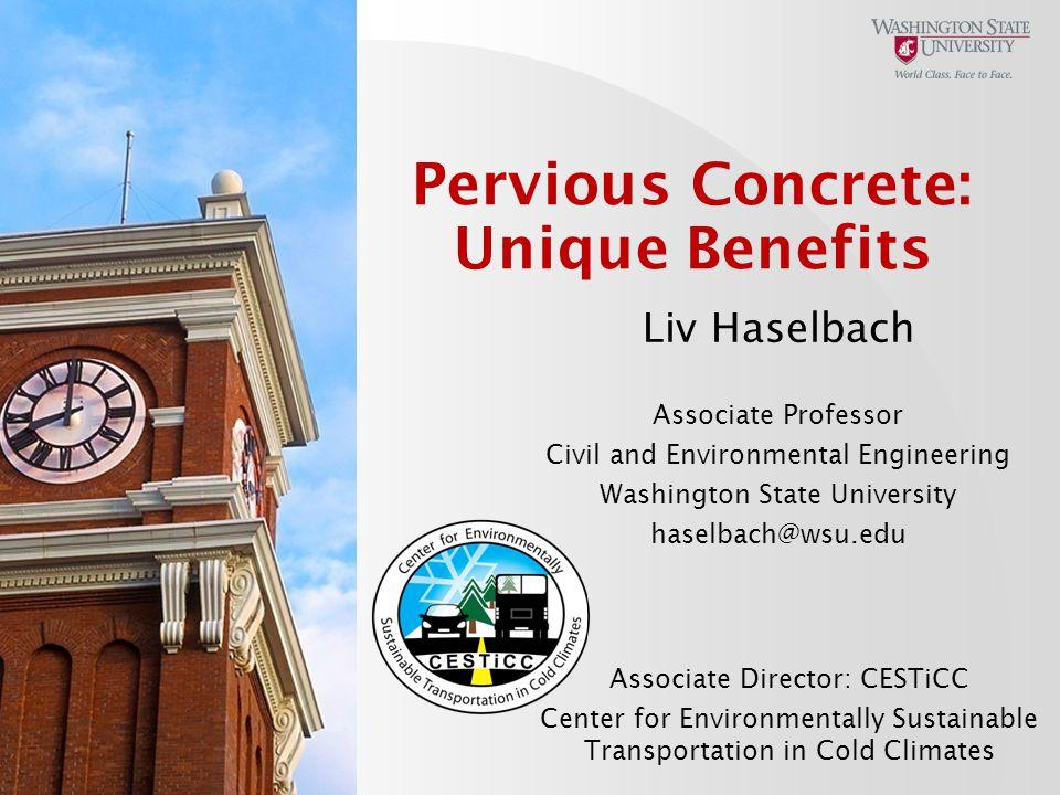 Pervious Concrete: Unique Benefits