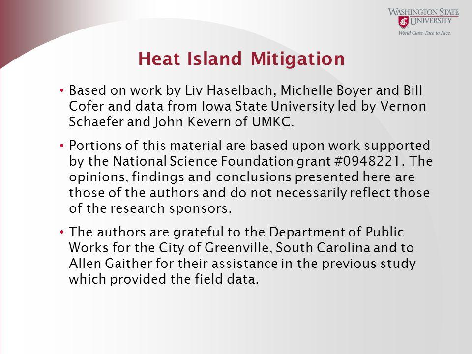 Heat Island Mitigation