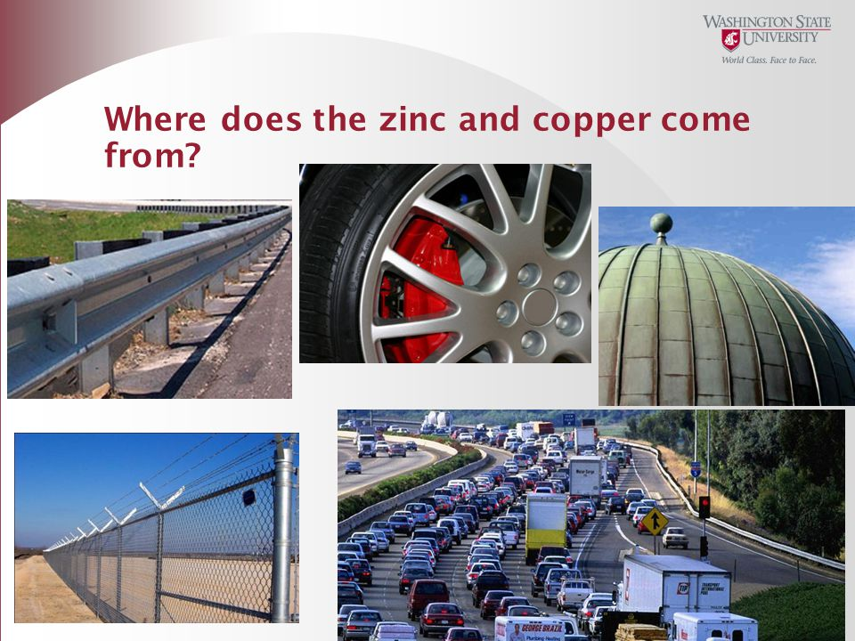 Where does the zinc and copper come from