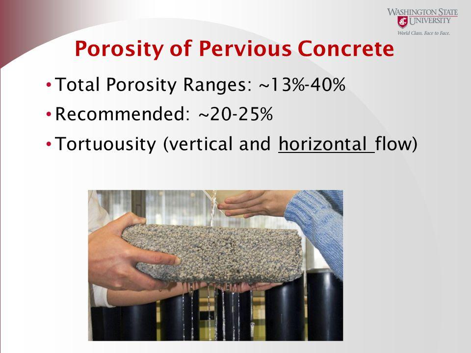 Porosity of Pervious Concrete