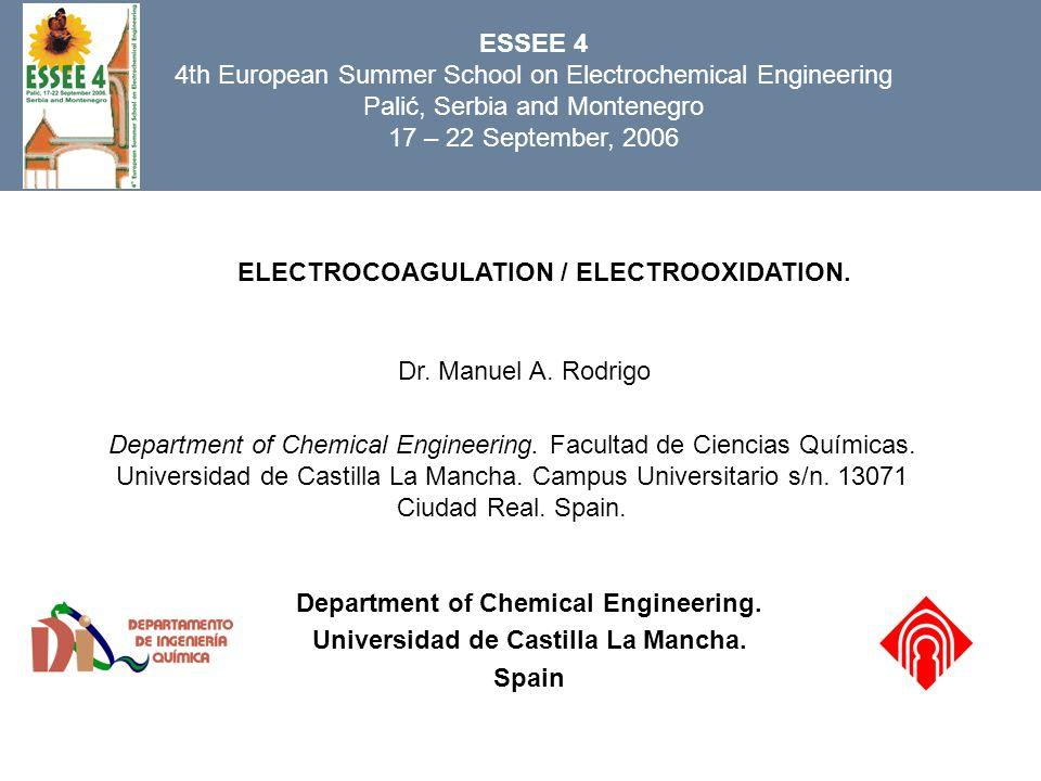 Department of Chemical Engineering. Universidad de Castilla La Mancha.