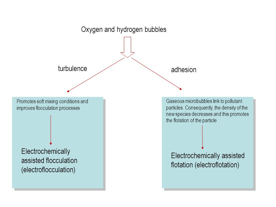 Oxygen and hydrogen bubbles