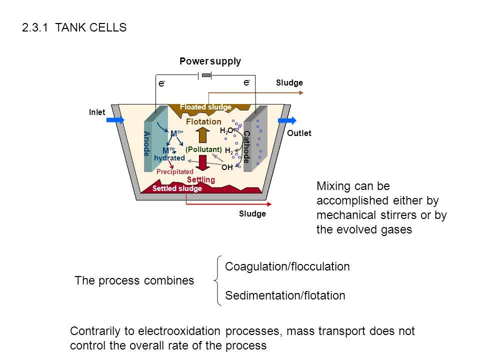 Coagulation/flocculation Sedimentation/flotation The process combines