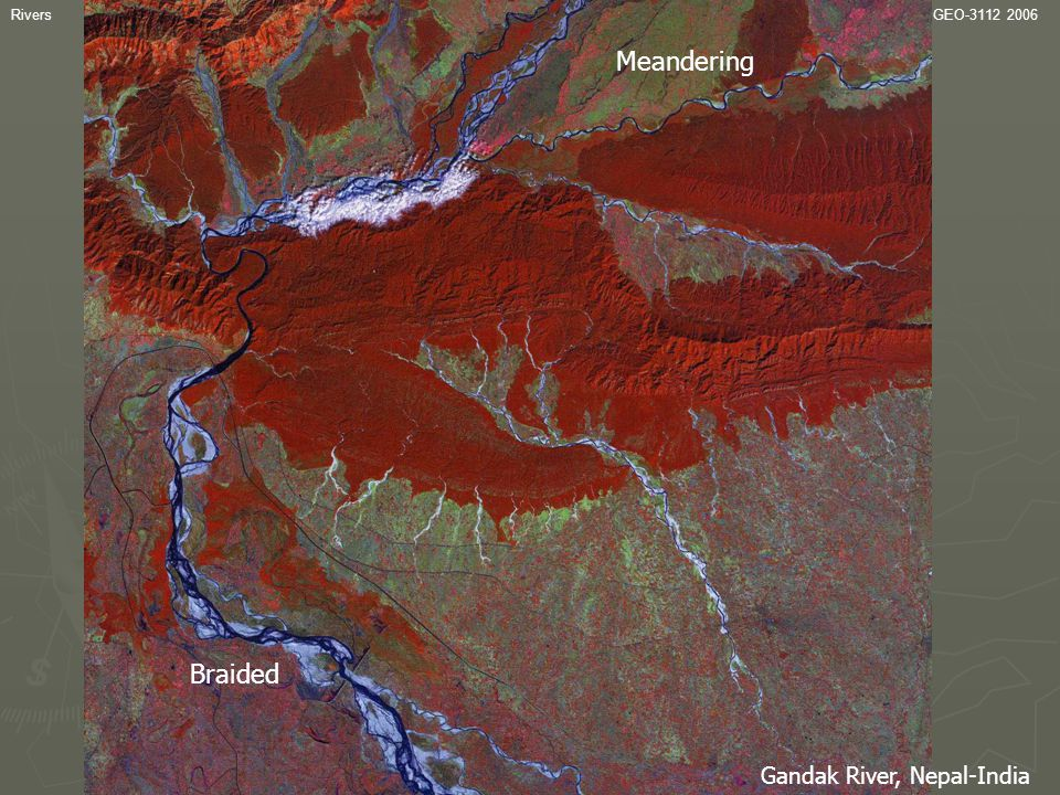 Channel variability Meandering Braided Gandak River, Nepal-India