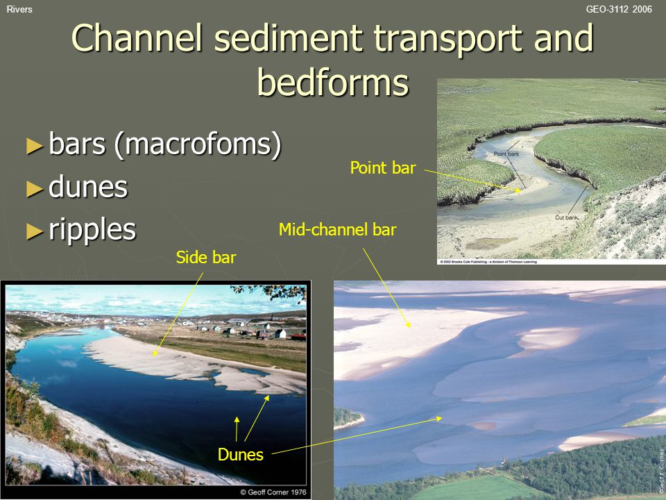 Channel sediment transport and bedforms