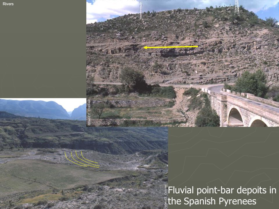 Fluvial point-bar depoits in the Spanish Pyrenees
