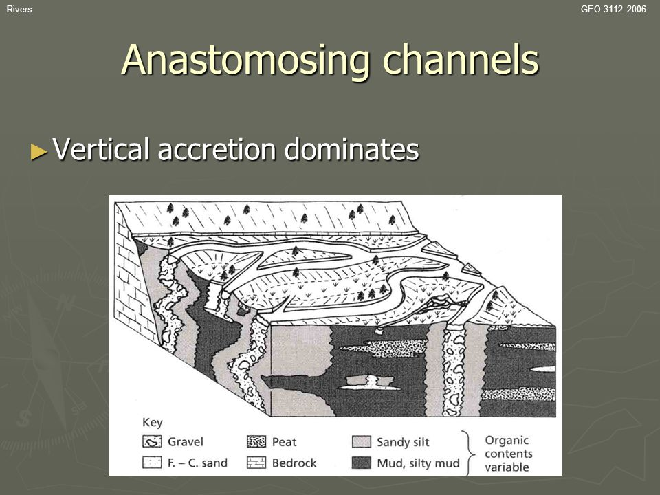 Anastomosing channels
