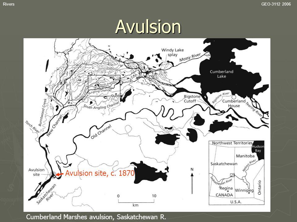 Avulsion Avulsion site, c. 1870