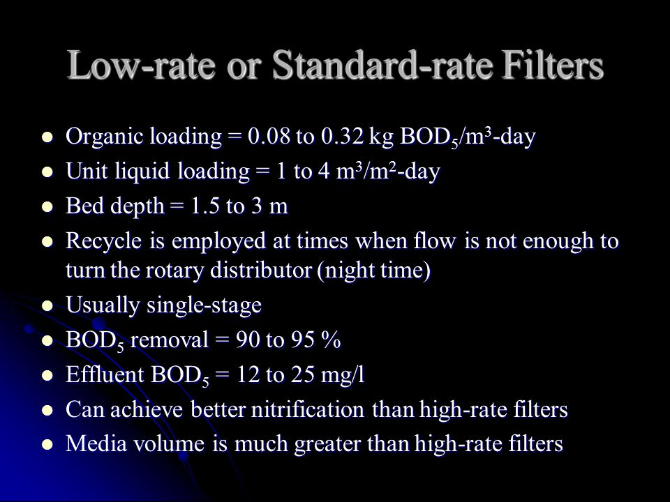 Low-rate or Standard-rate Filters