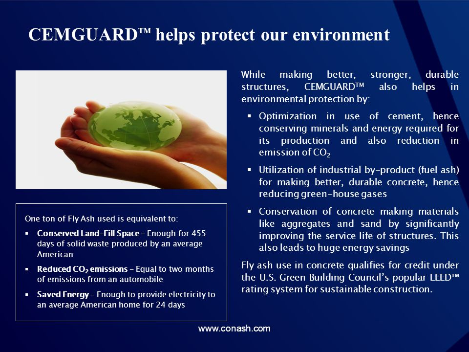 CEMGUARDTM helps protect our environment