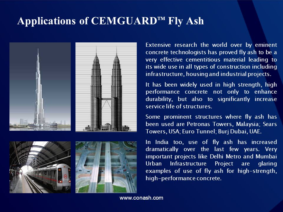 Applications of CEMGUARDTM Fly Ash