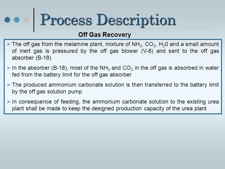 Process Description Off Gas Recovery