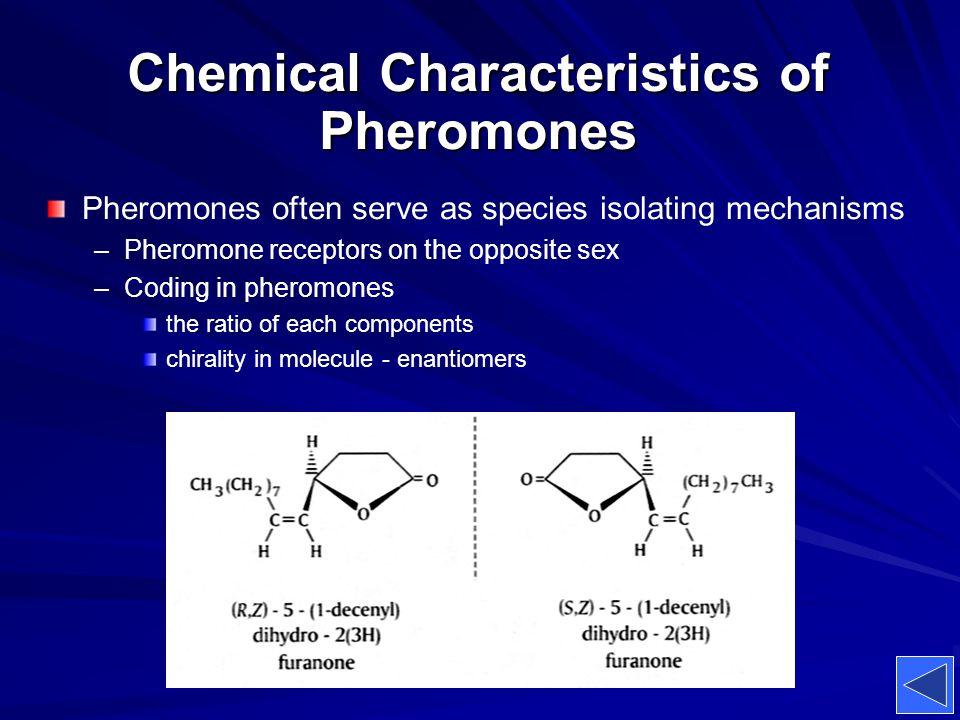 Chemical Characteristics of Pheromones