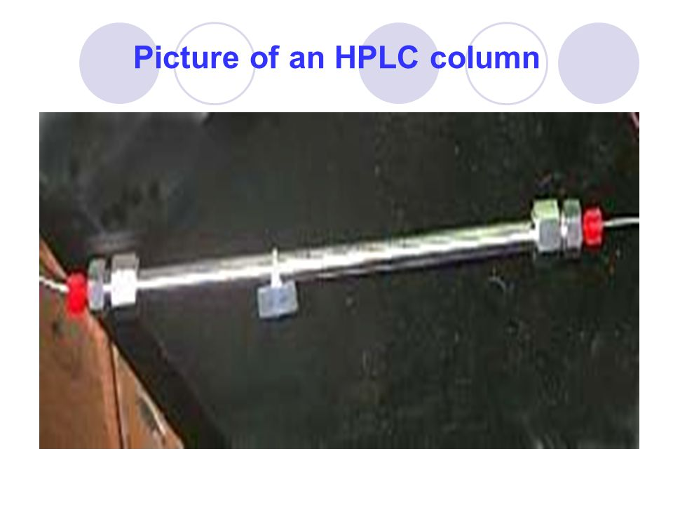 Picture of an HPLC column