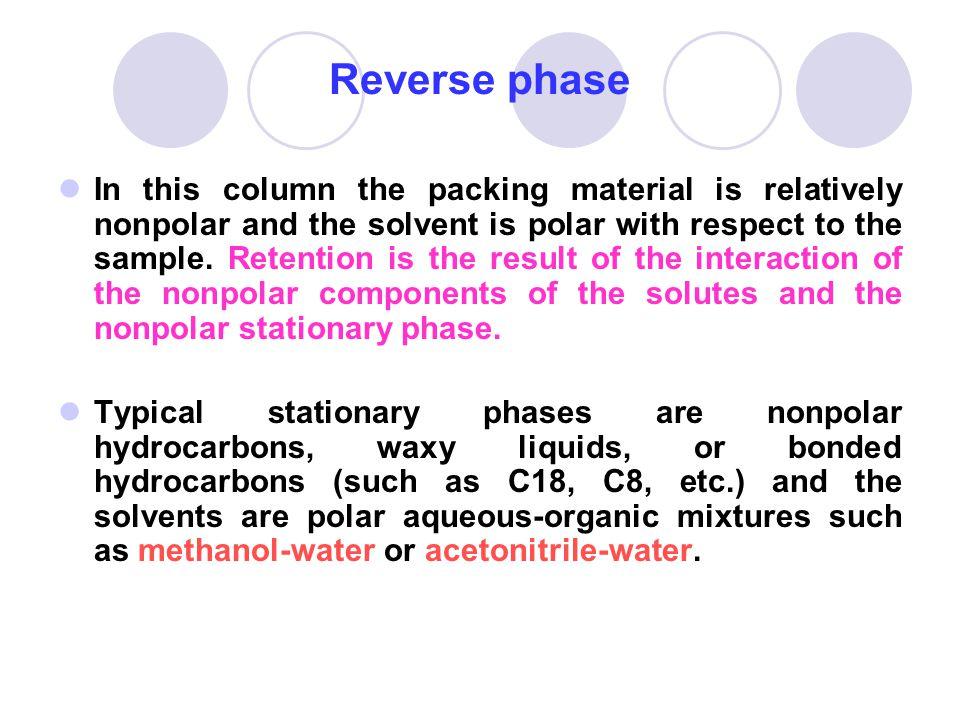 Reverse phase