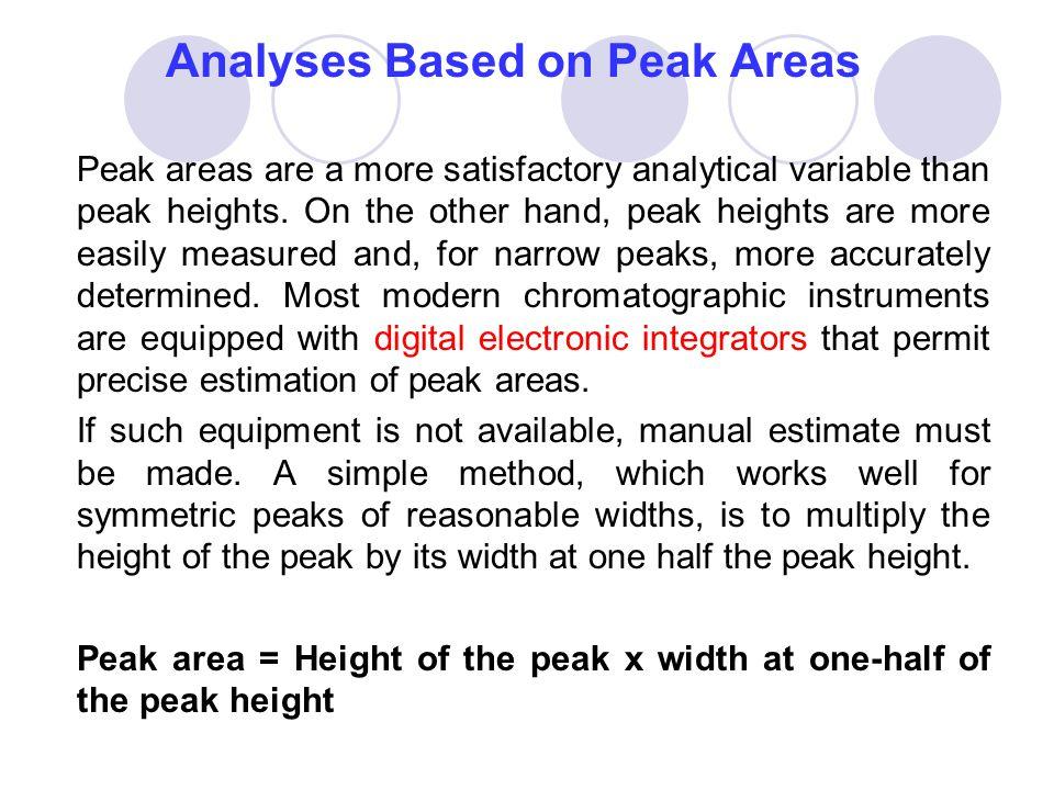 Analyses Based on Peak Areas