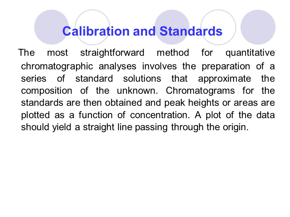 Calibration and Standards