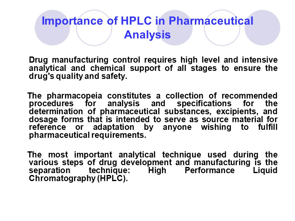 Importance of HPLC in Pharmaceutical Analysis
