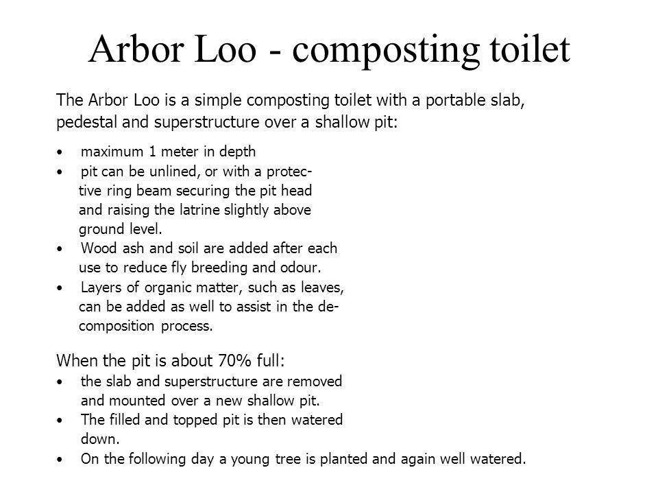 Arbor Loo - composting toilet