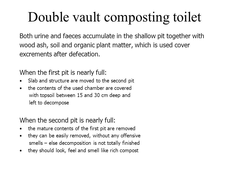 Double vault composting toilet