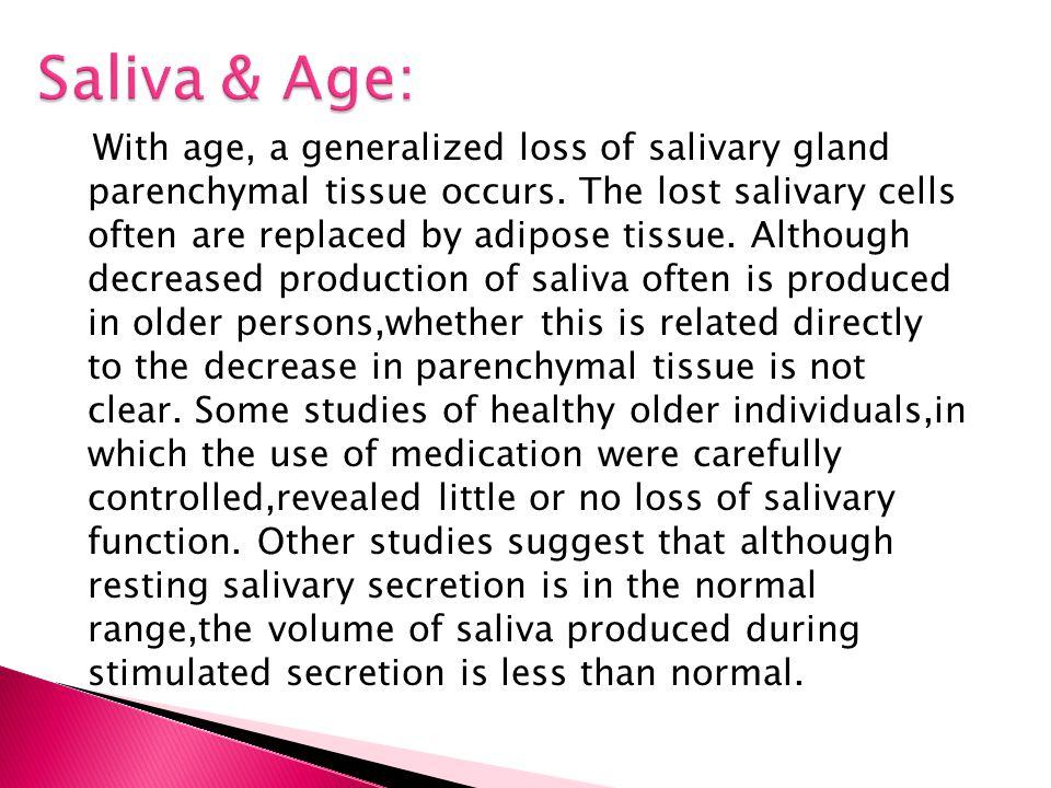 Saliva & Age:
