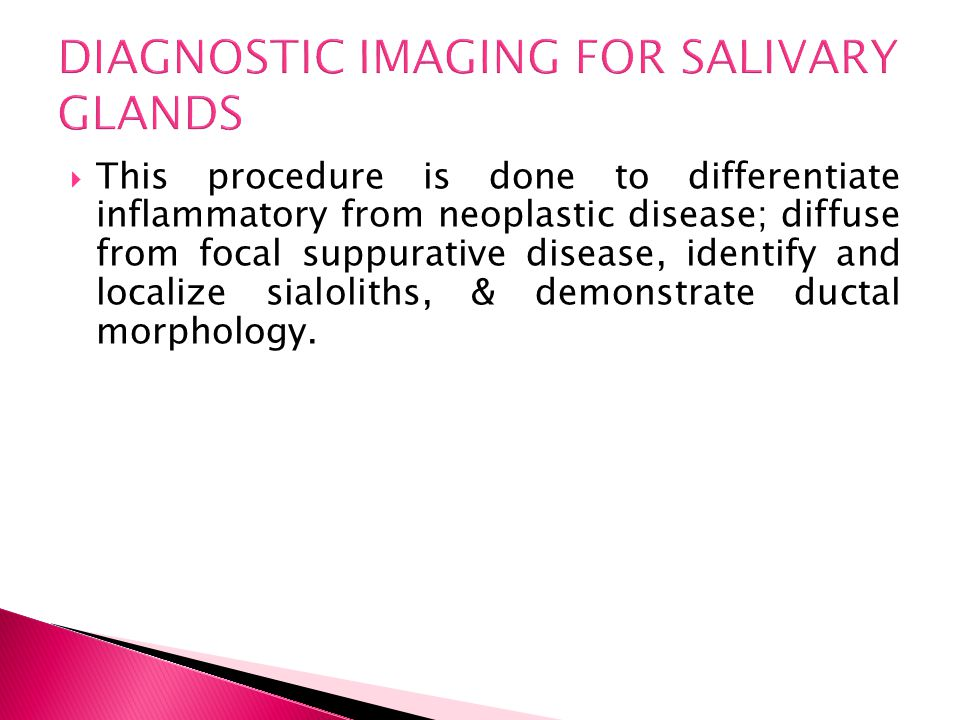 DIAGNOSTIC IMAGING FOR SALIVARY GLANDS