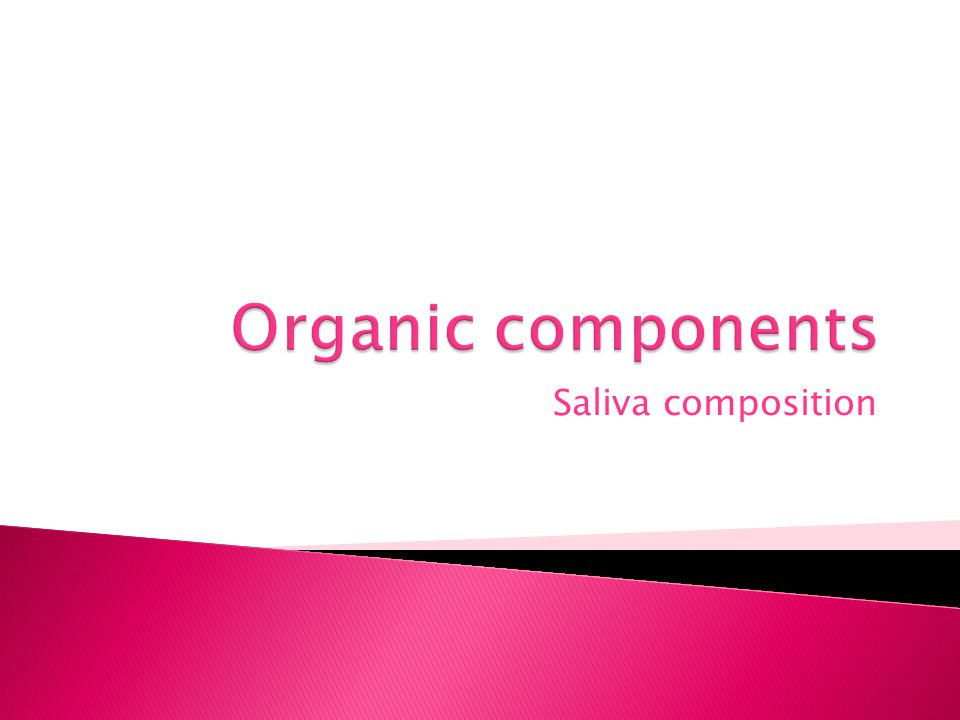 Organic components Saliva composition