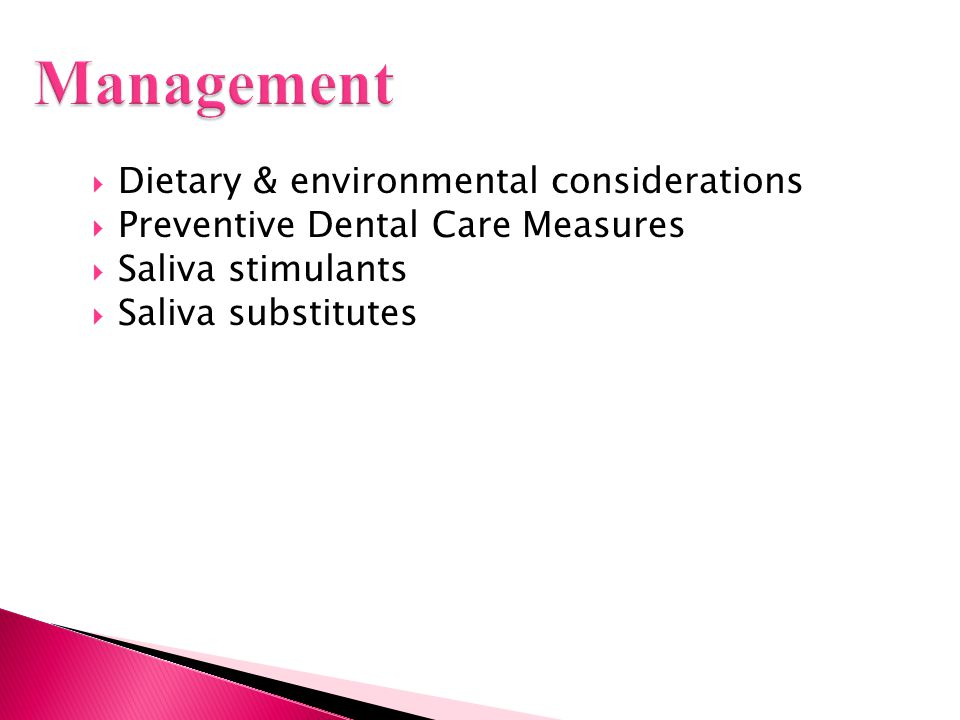 Management Dietary & environmental considerations