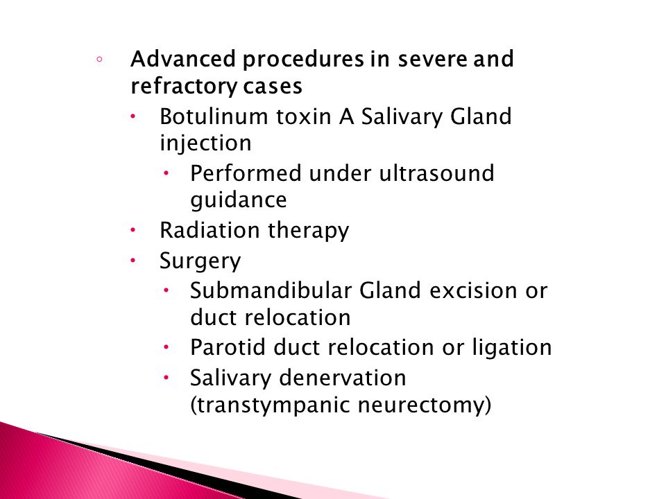 Advanced procedures in severe and refractory cases