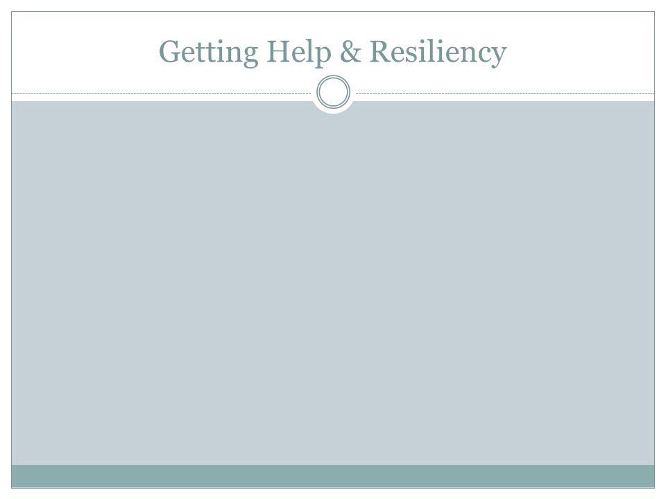Getting Help & Resiliency