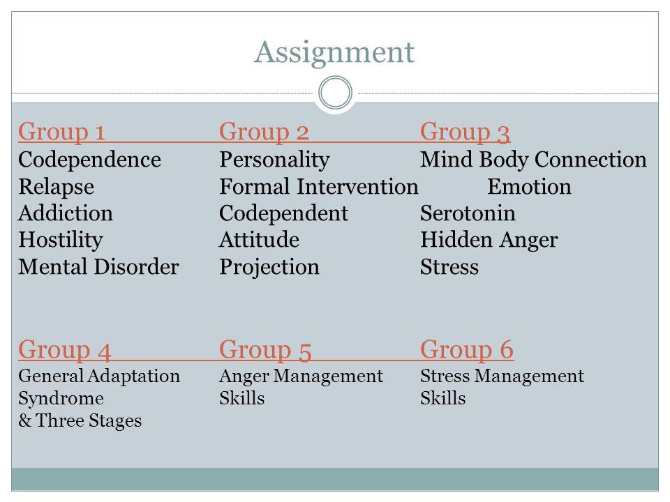 Assignment Group 4 Group 5 Group 6 Group 1 Group 2 Group 3