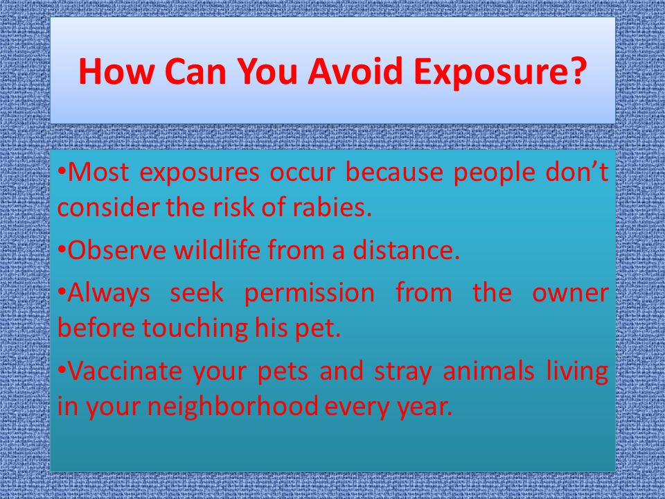 How Can You Avoid Exposure
