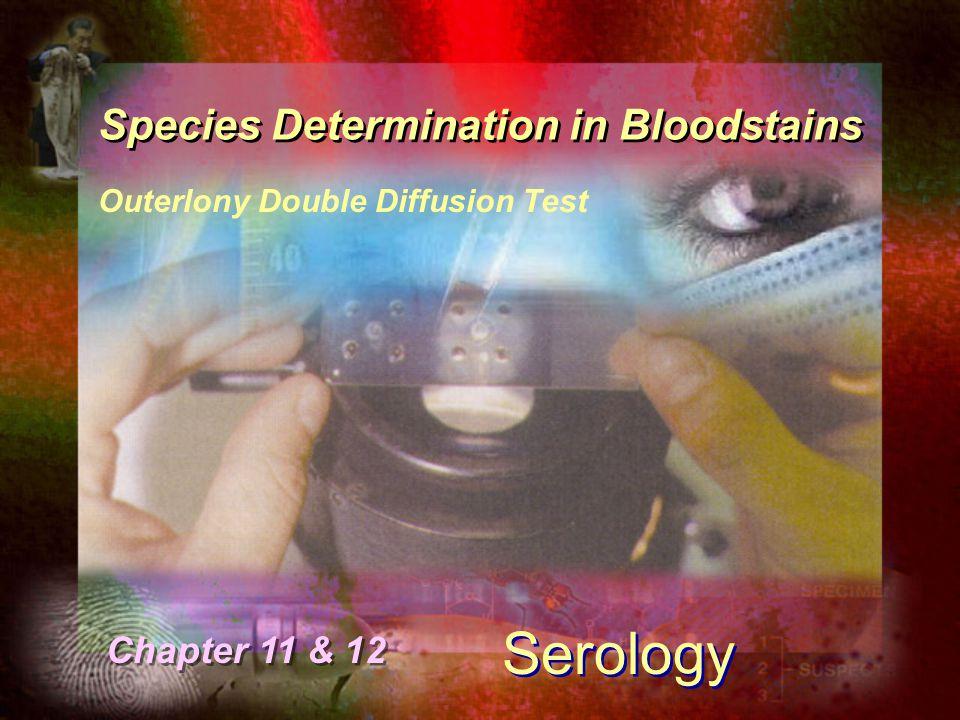 Species Determination in Bloodstains