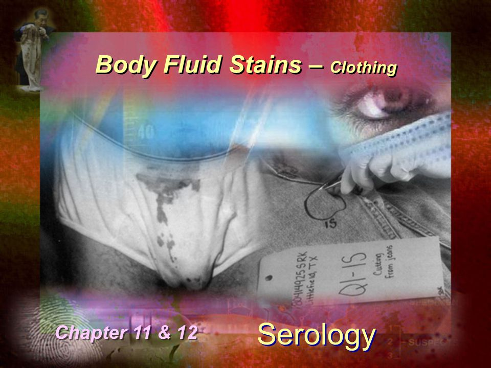 Body Fluid Stains – Clothing