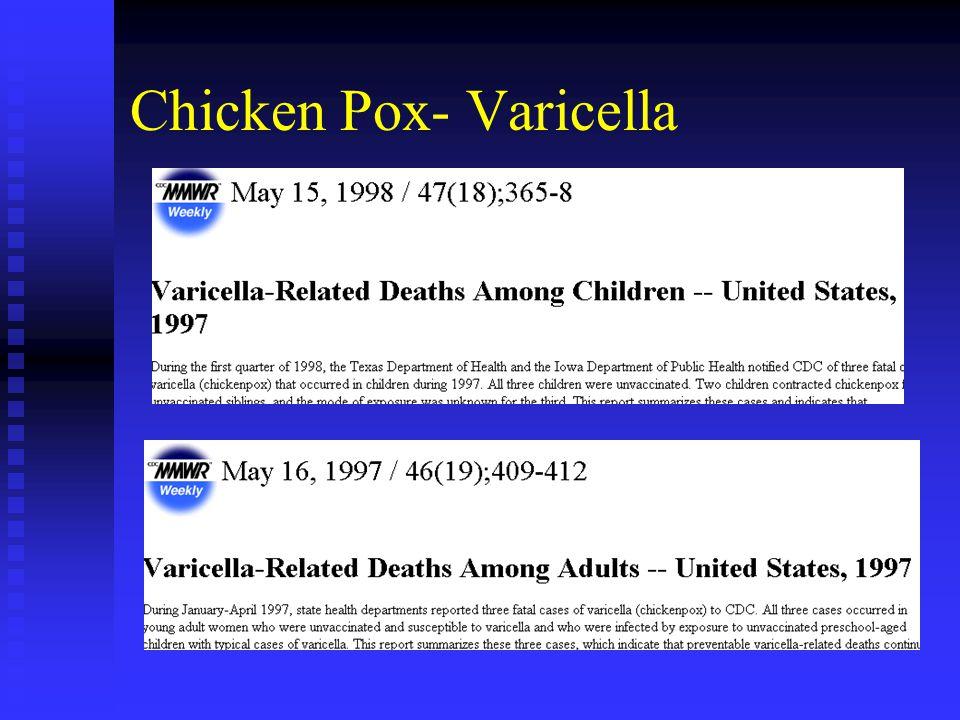 Chicken Pox- Varicella