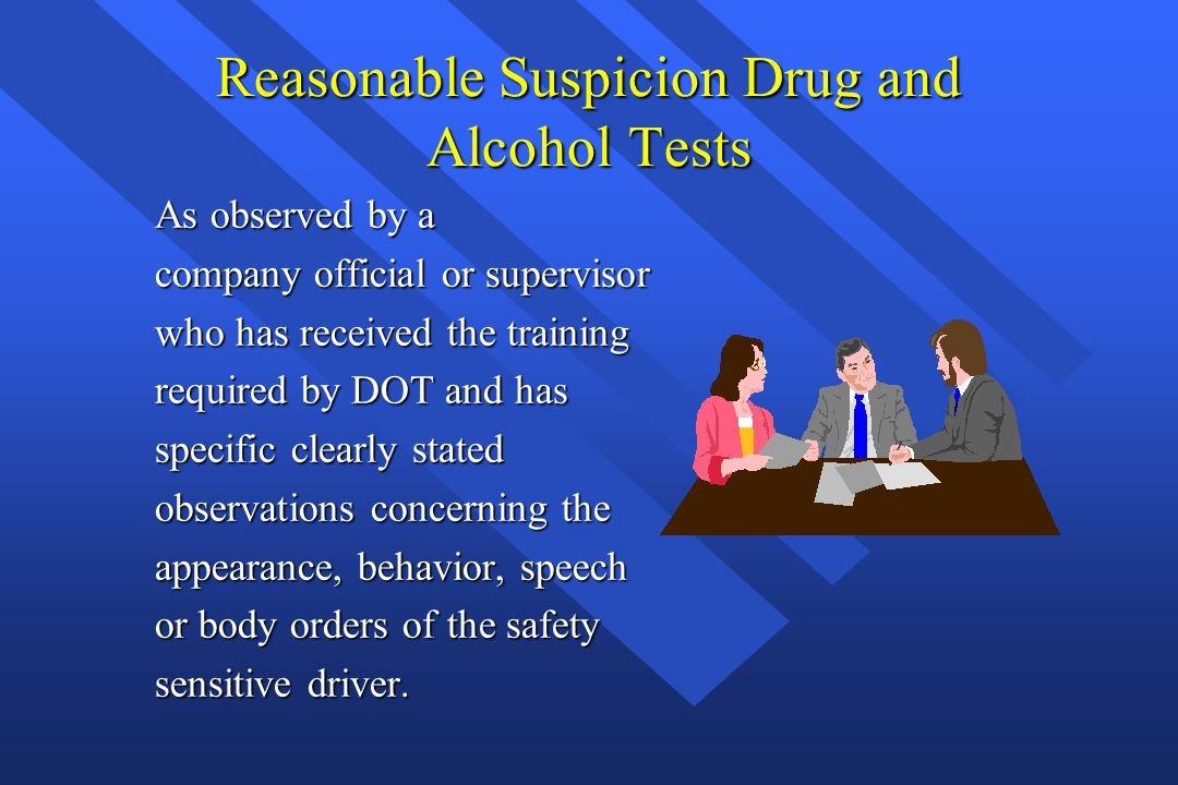 DRUG AND ALCOHOL TRAINING For Safety Sensitive Employee's ...