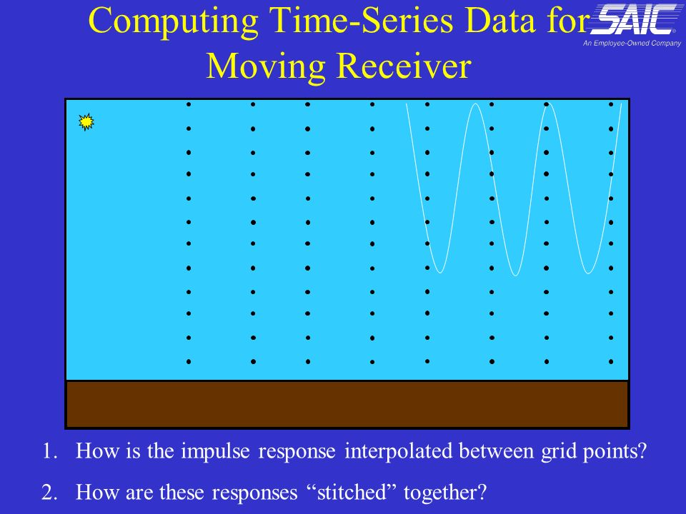 Computing Time-Series Data for Moving Receiver