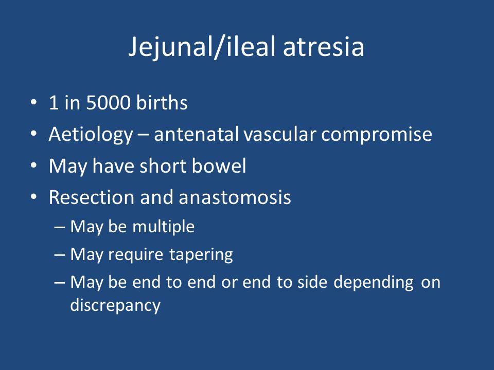 Jejunal/ileal atresia