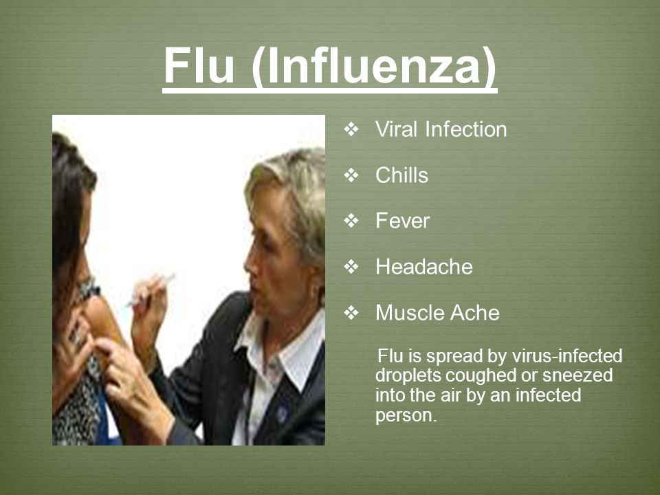 Flu (Influenza) Viral Infection Chills Fever Headache Muscle Ache