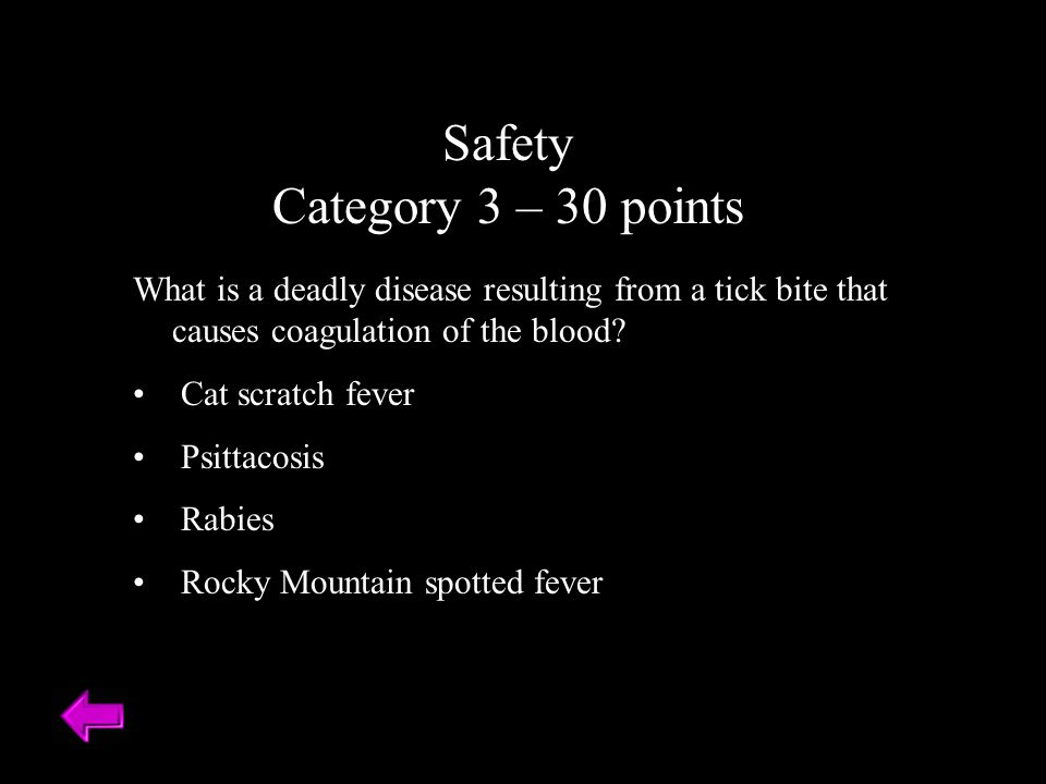 Safety Category 3 – 30 points
