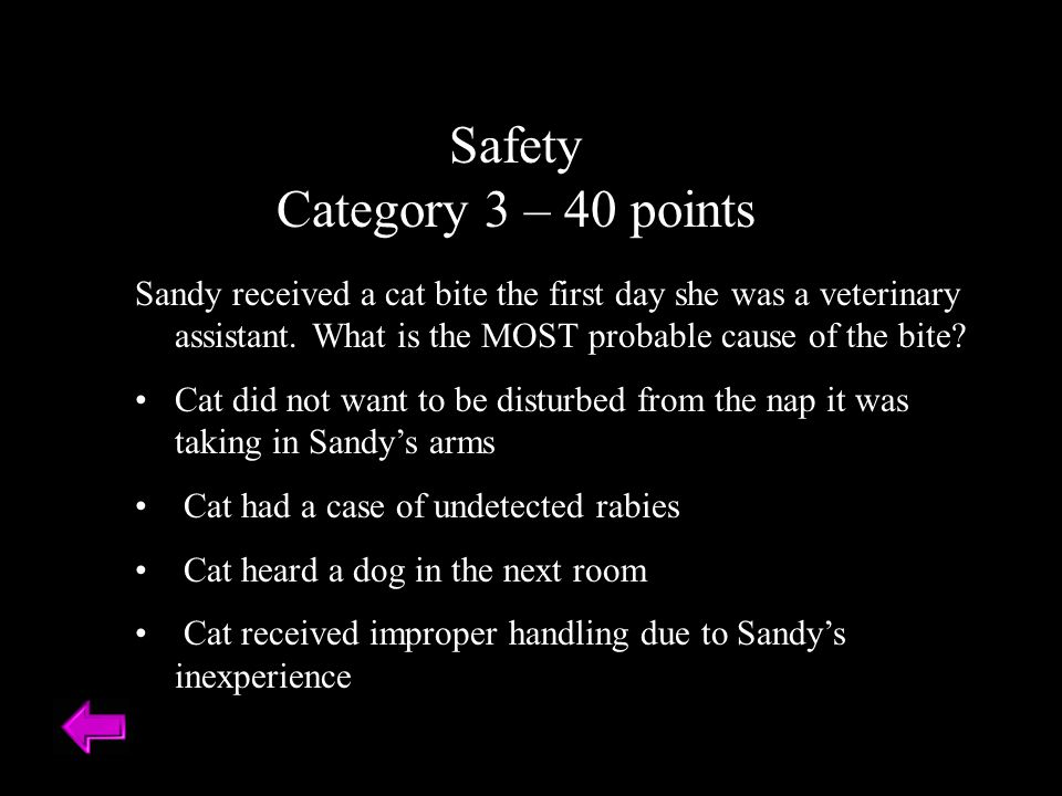 Safety Category 3 – 40 points